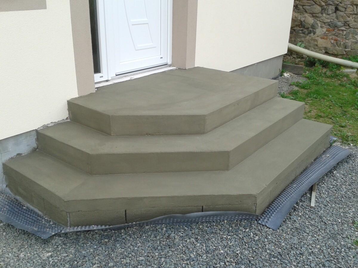 Крыльцо из бетона своими руками в частном доме фото