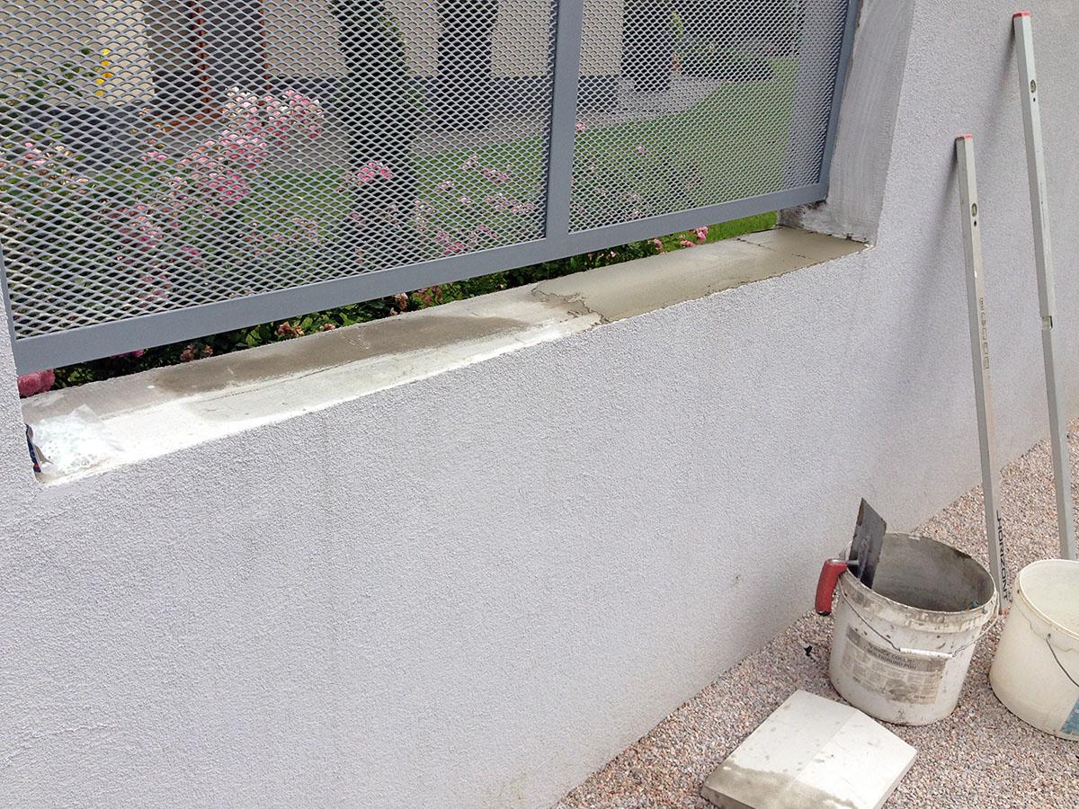 betónová strieška