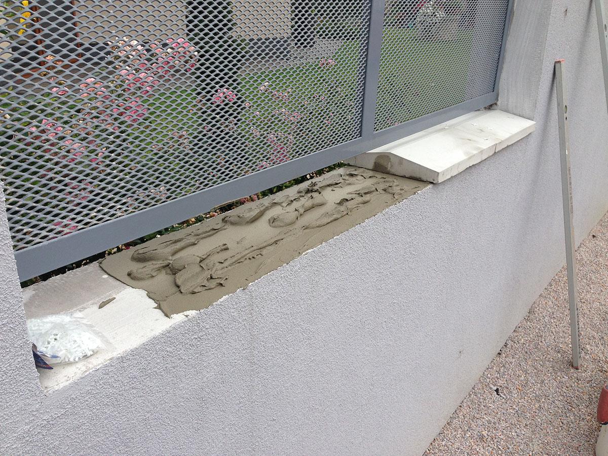 betónová strieška lepenie